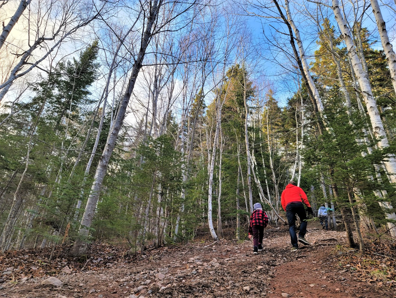 Father and son hiking in Cape Breton Coxheath