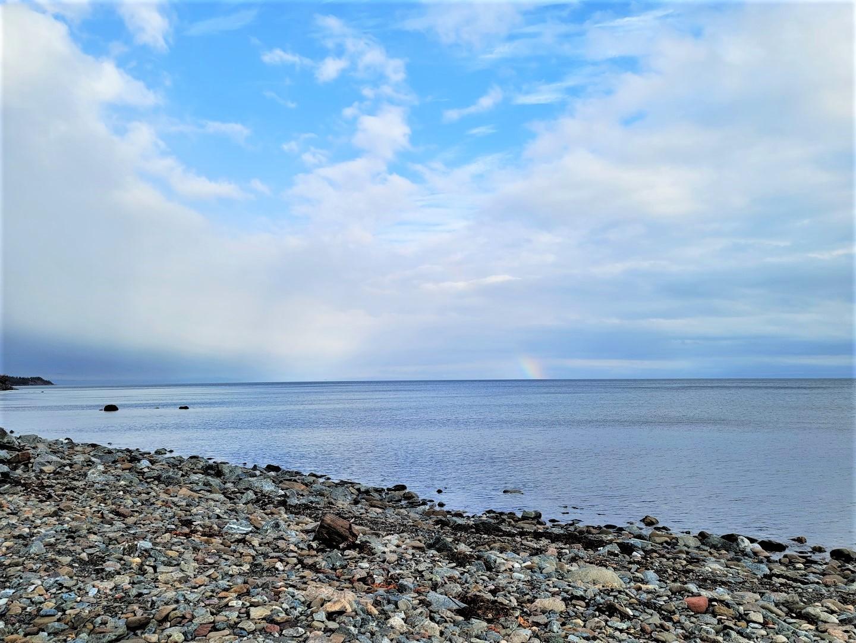 Rainbow at Mahoney's Beach Nova Scotia