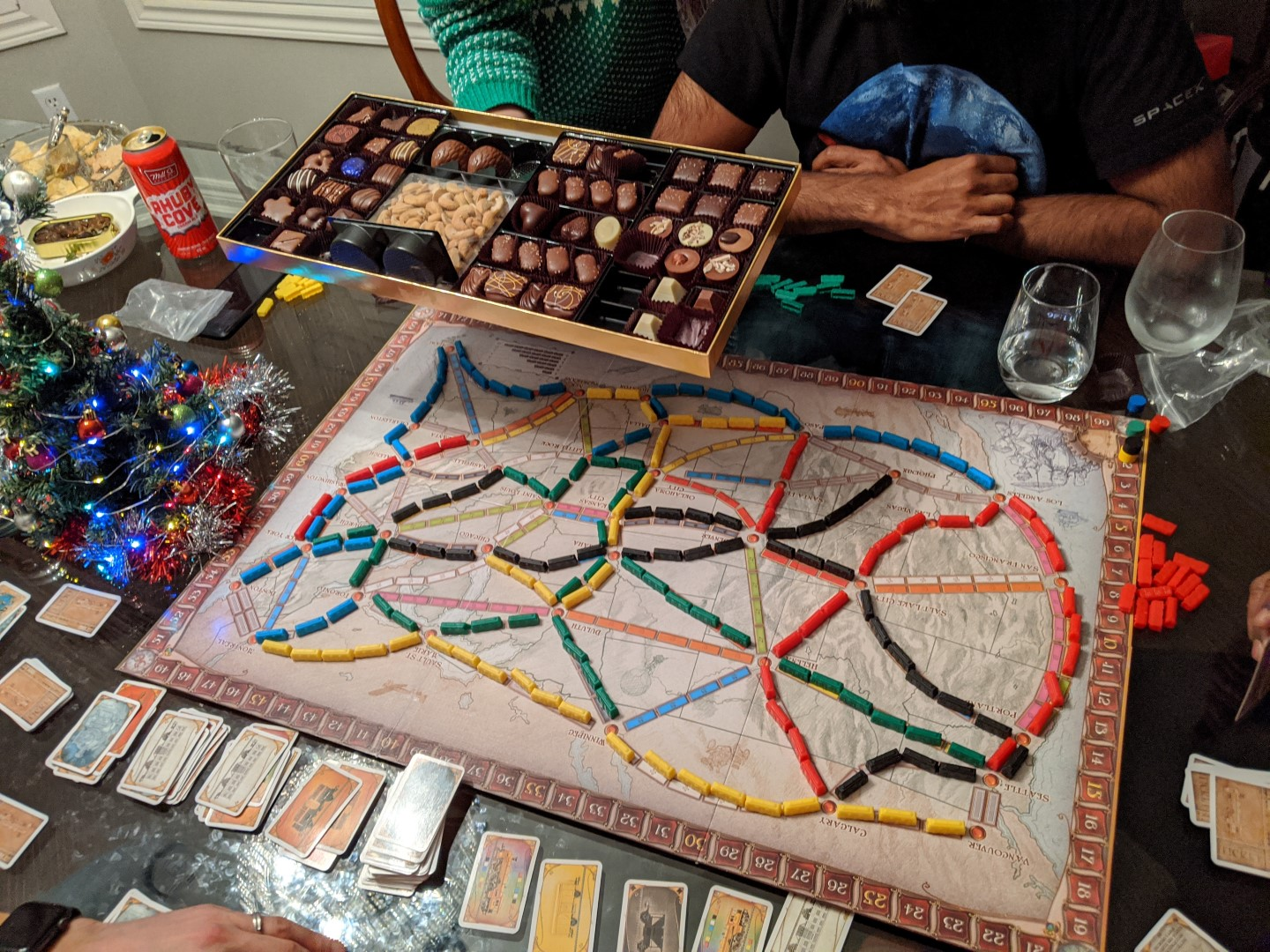 chocolates and ticket to ride game board