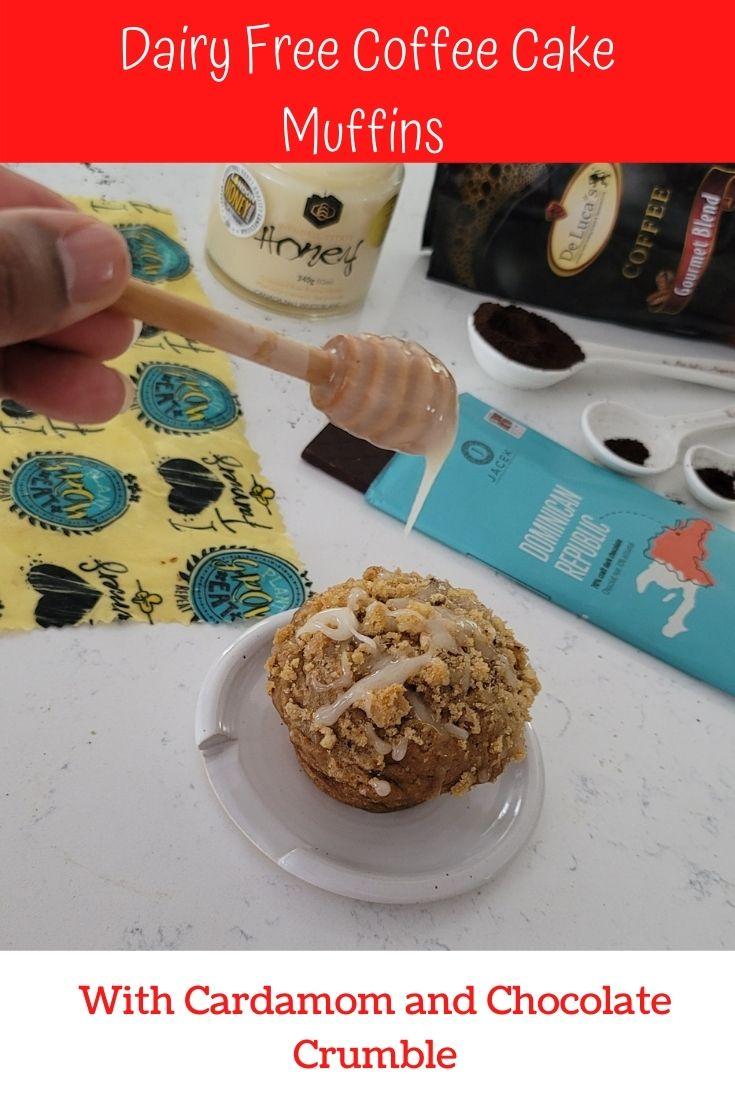 Honey swirl on coffee cake muffin
