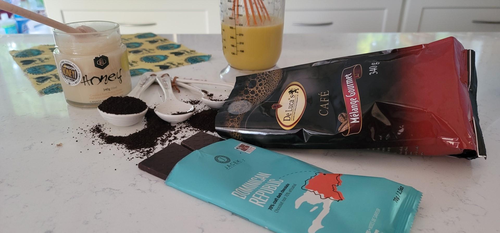 coffee powder and chocolate