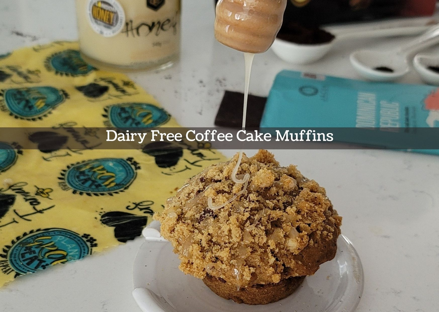 Honey drizzle on muffin