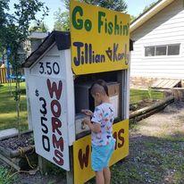 fishing supplies shack in Ontario