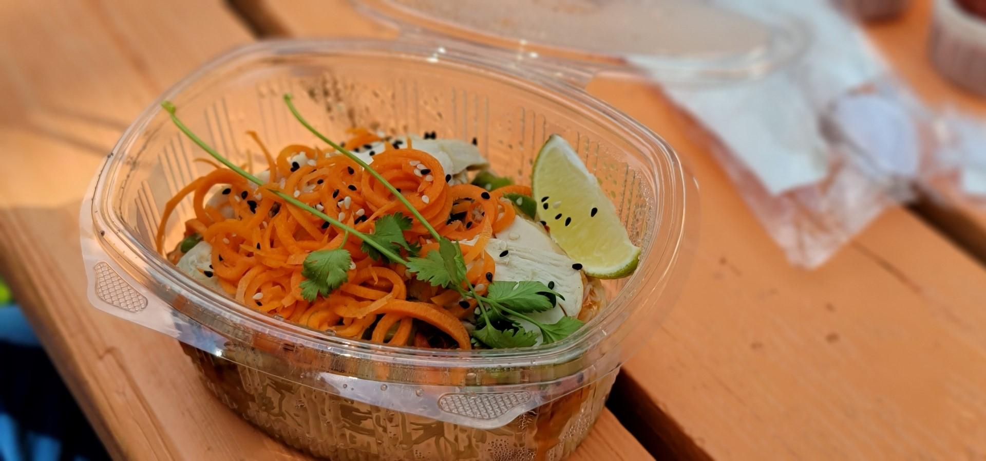 noodle salad at 1909 Culinary