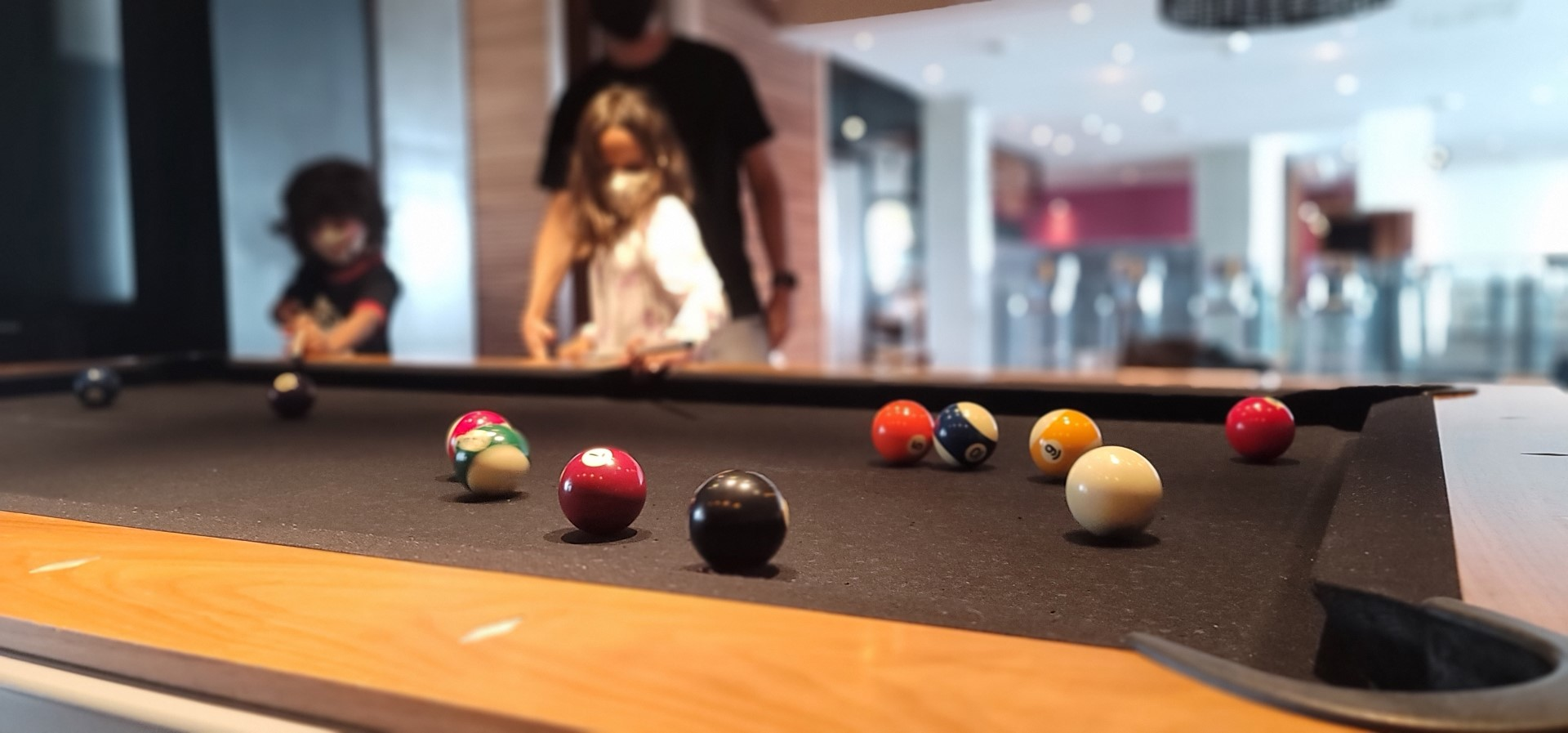 pool table at Alt hotel in halifax airport