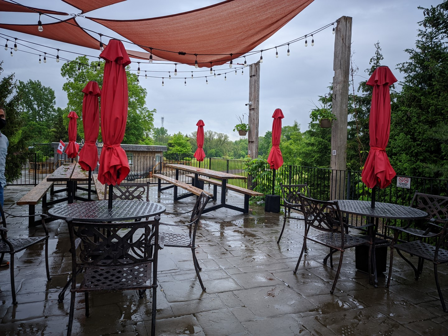 Brickhouse patio in Oxford County Cheese Trail