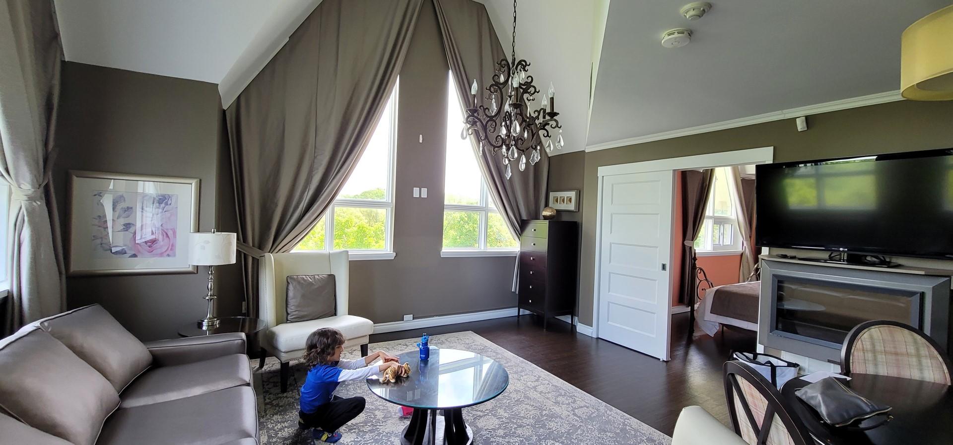 Living room at elmhurst