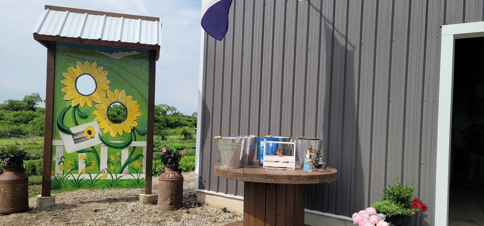 Makkink's Flower Farm entrance