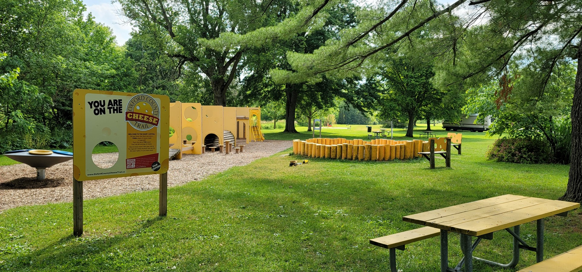 Oxford County Cheese Trail with kids playground