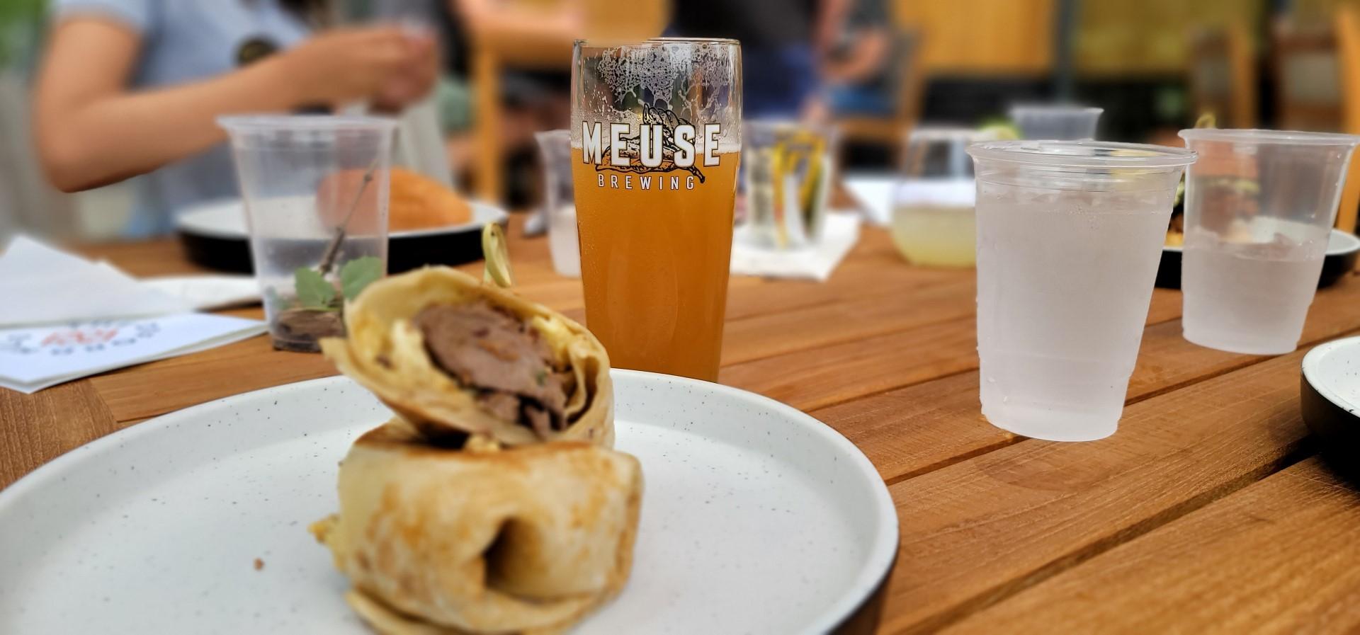 beer and breakfast burrito