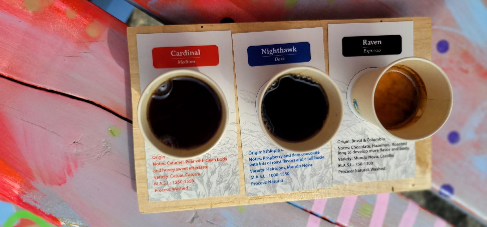 coffee tasting flight