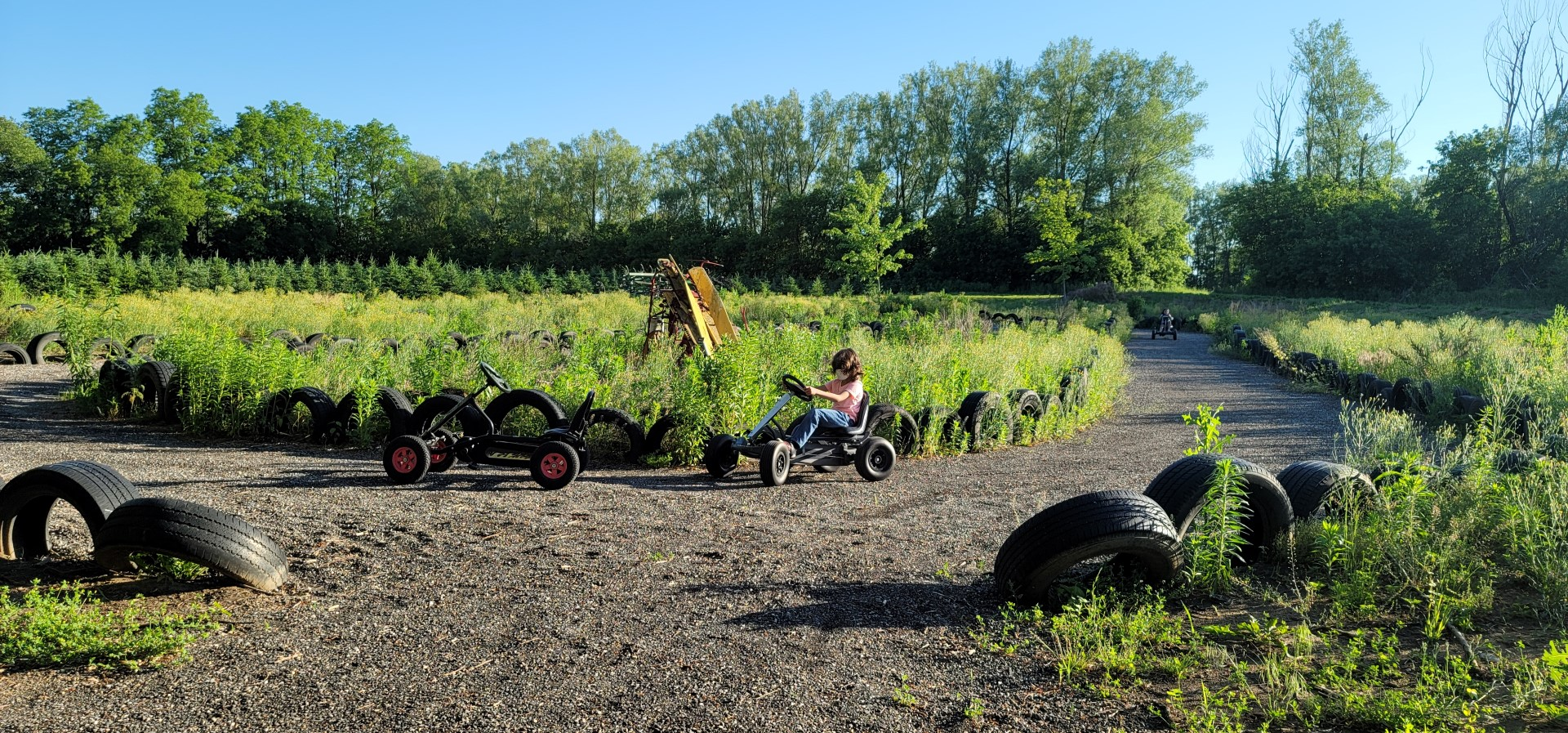 kid on go cart in Ontario