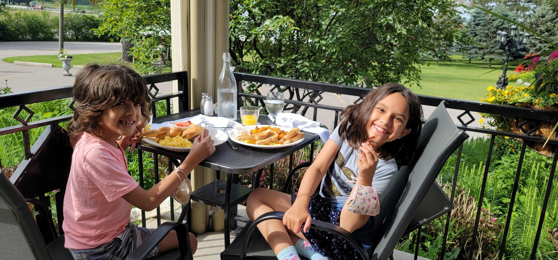 kids on patio