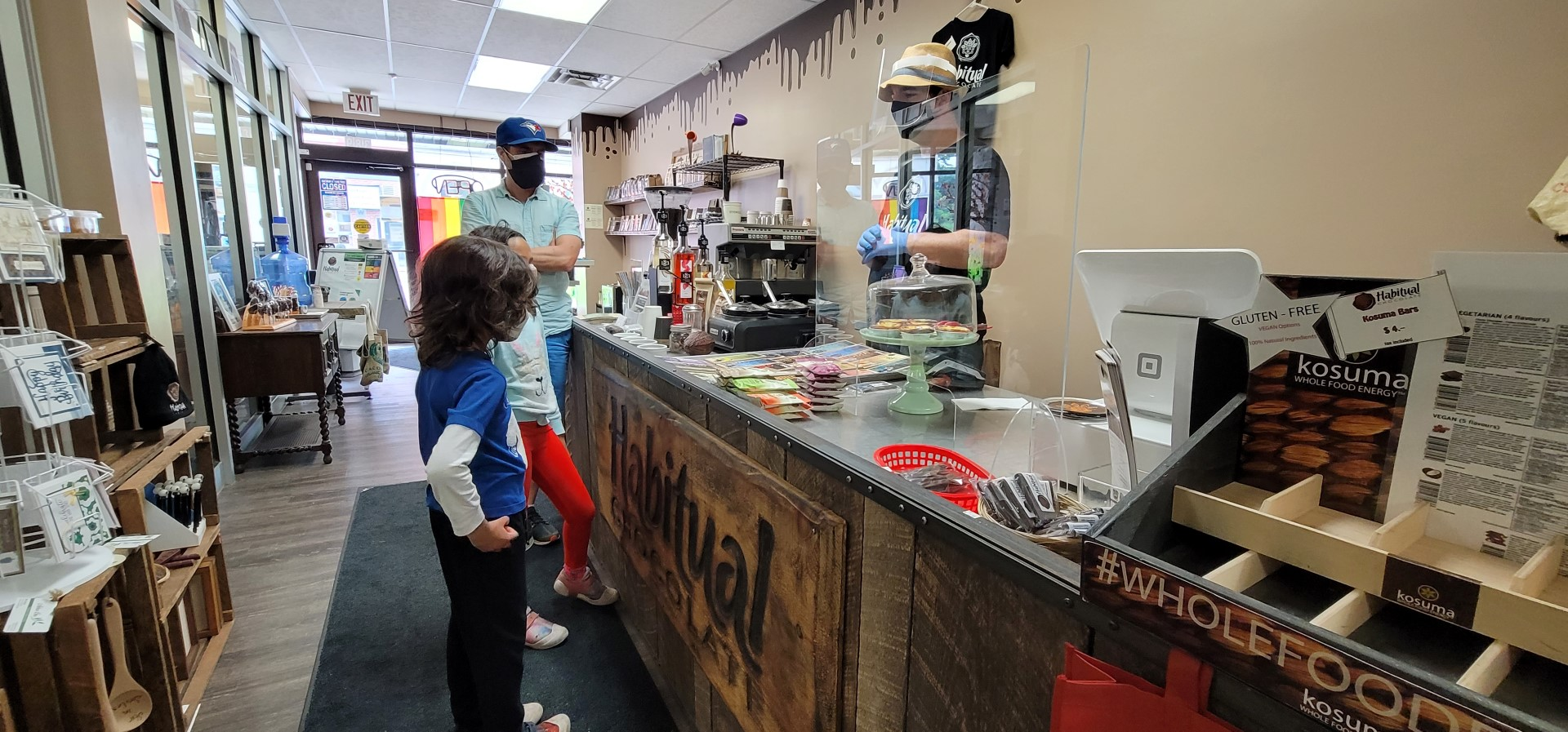 shopping indoors at Habitual Chocolate in Oxford County