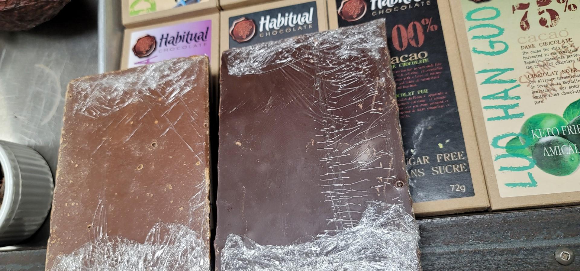 slabs of habitual chocolate