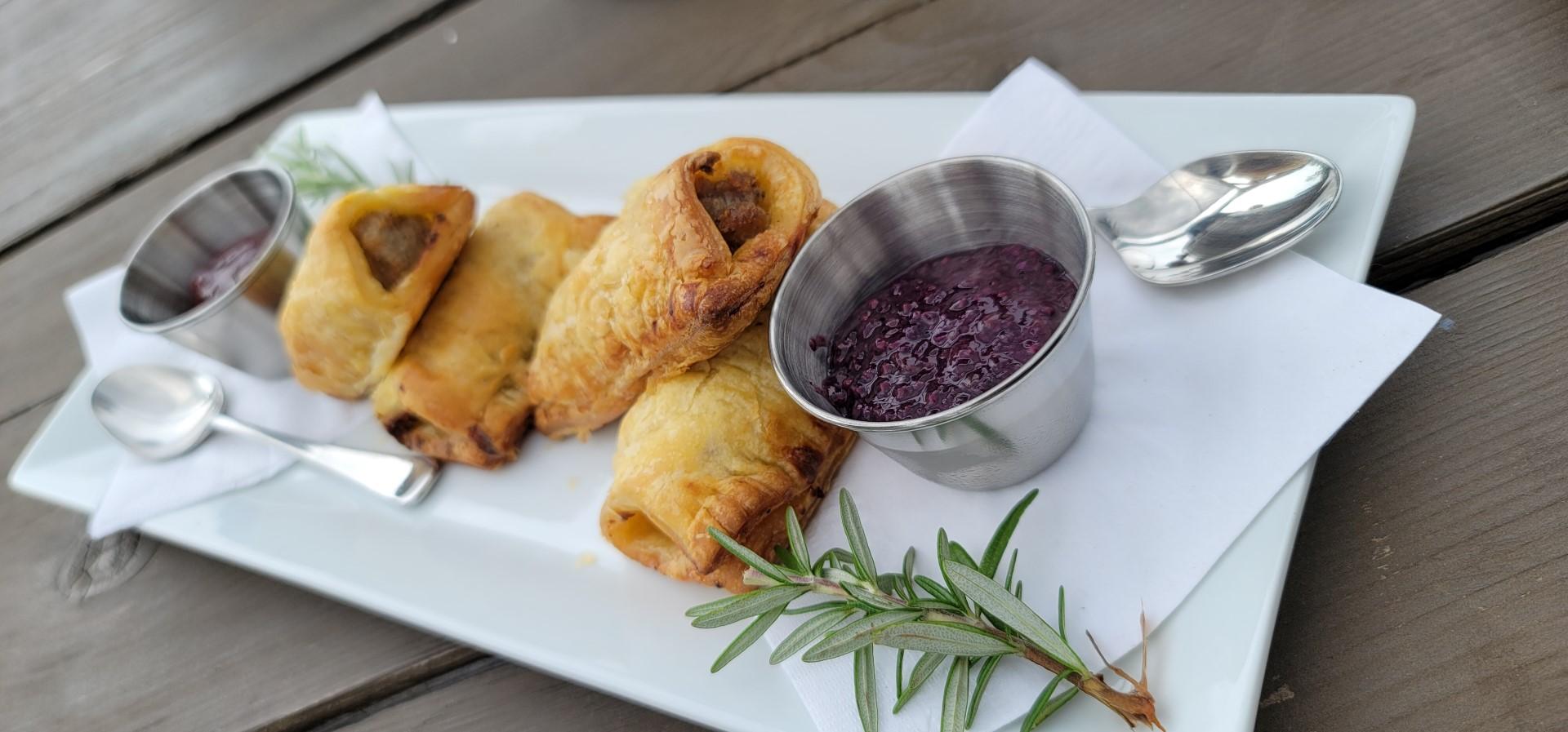 blueberry sausage rolls