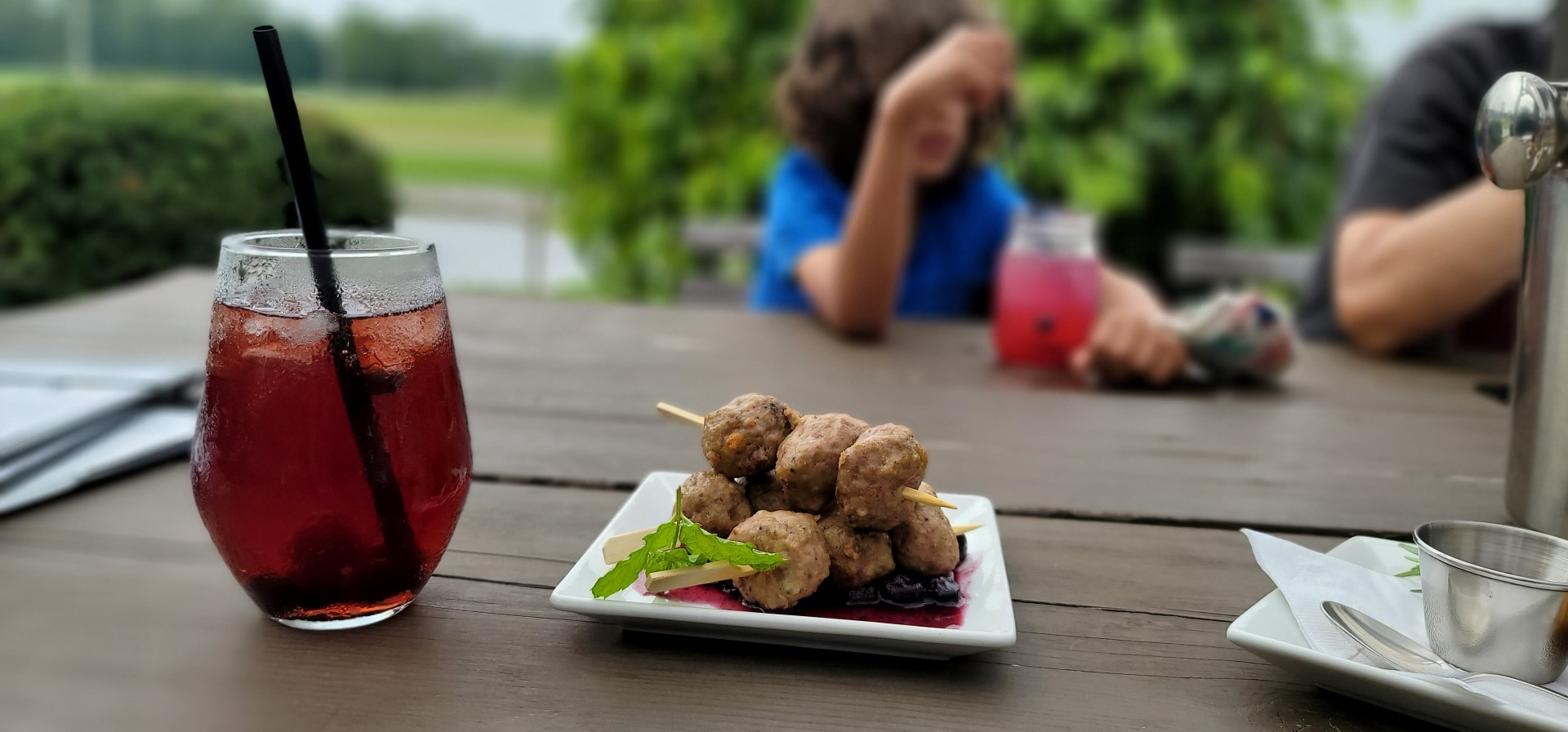 blueberry meatballs with sangria