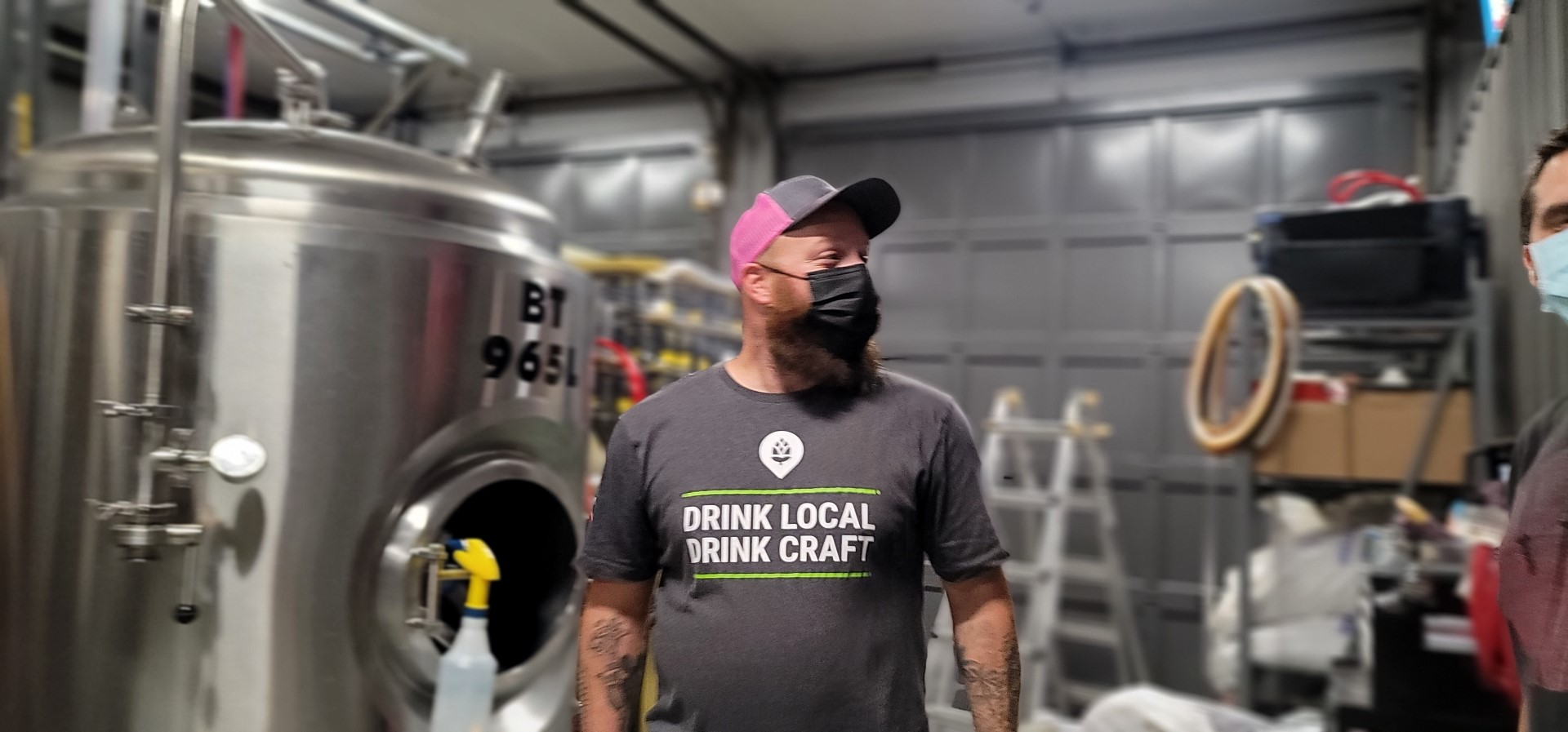 Maskter brewer at Concession road brewing