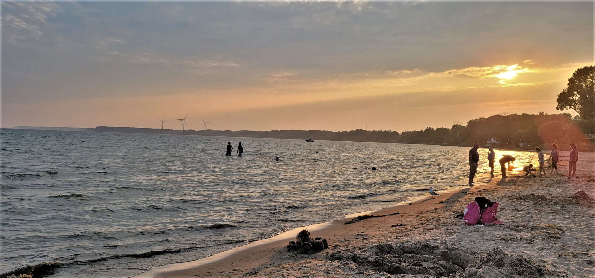 sunset at Port Dover Beach Ontario's SouthWest