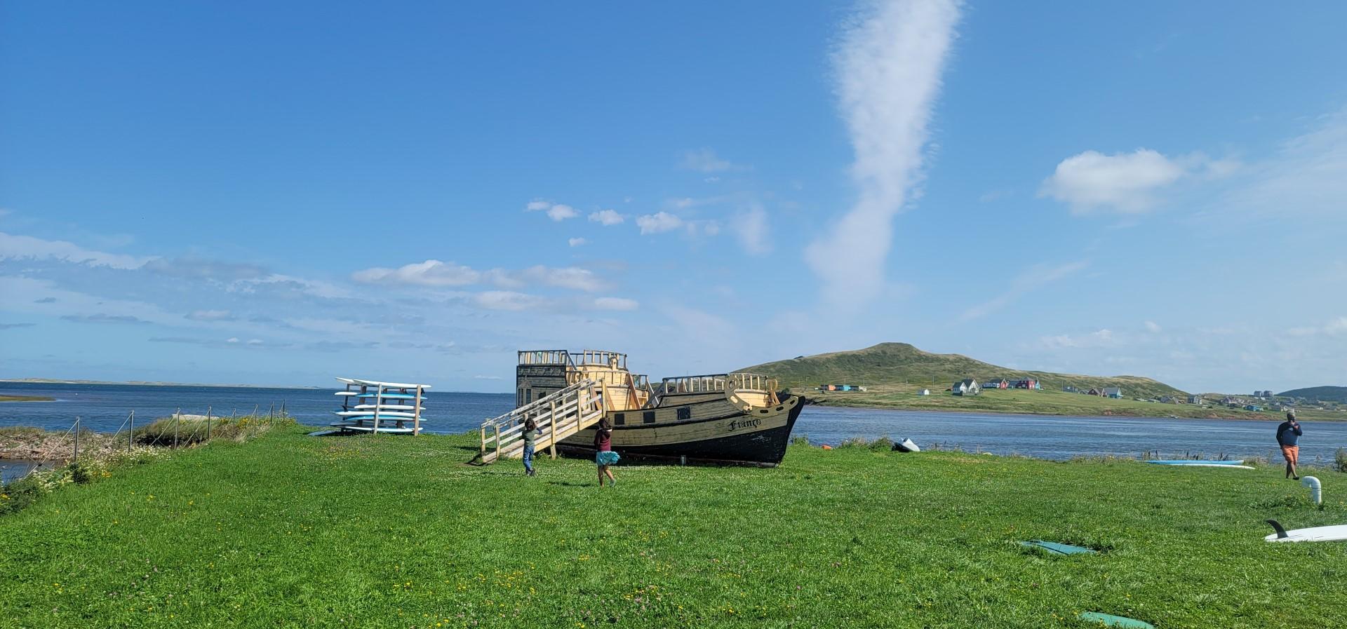 play boat on Iles de la Madeleine