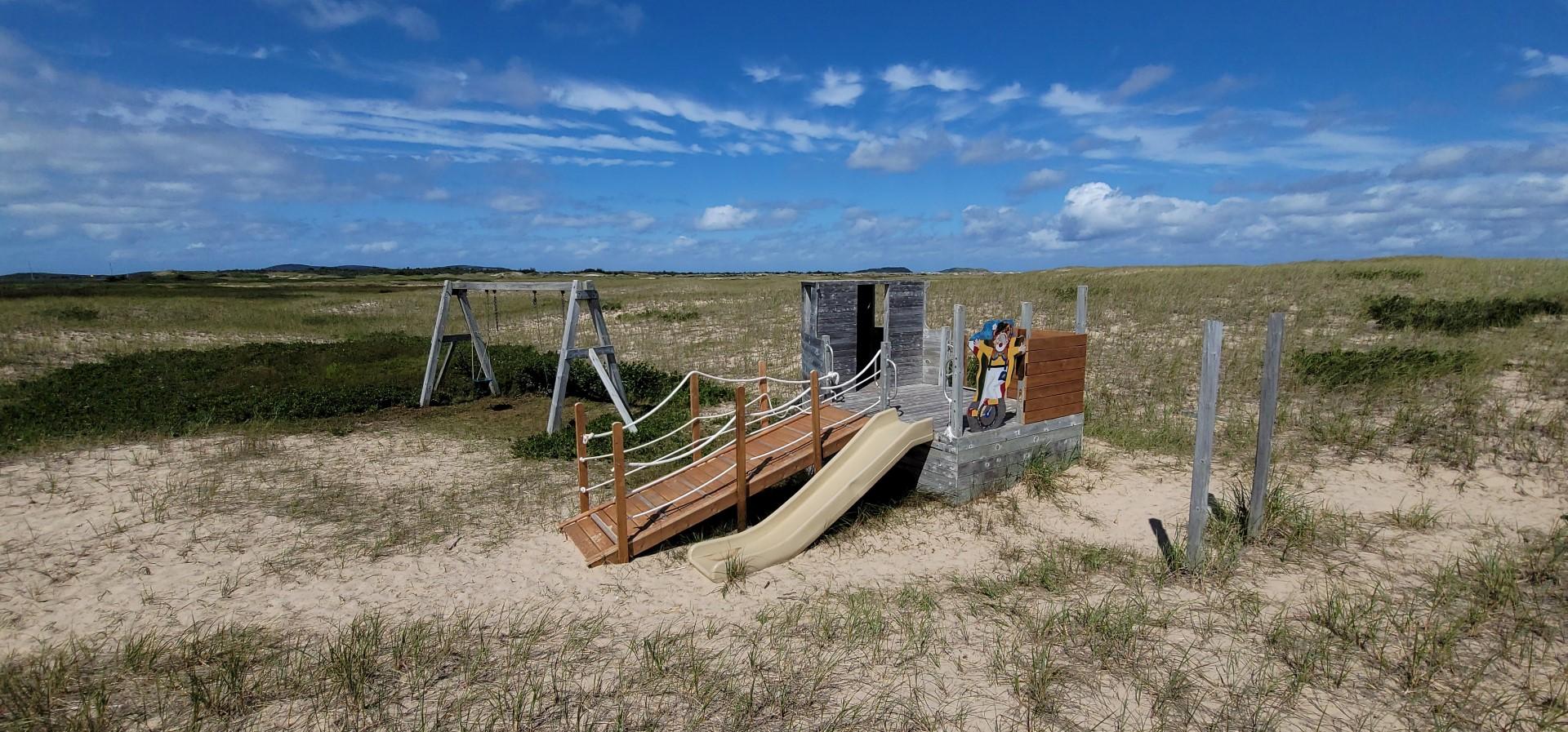 Playground at Grande Échouerie Beach