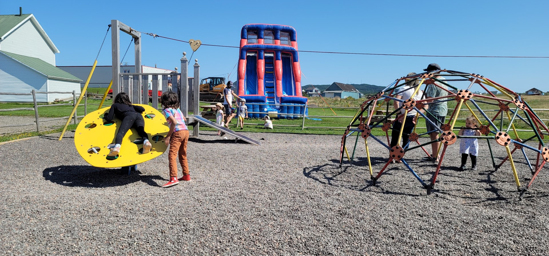 children on Magdalen Islands having fun