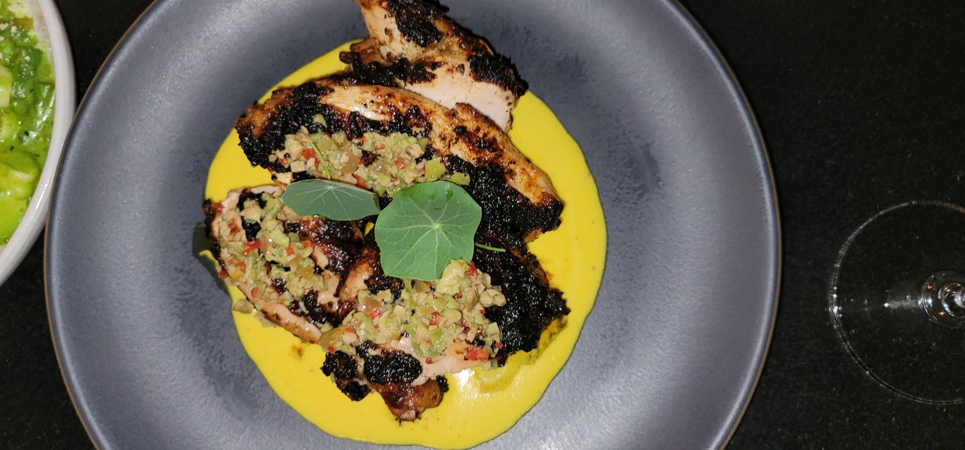 half chicken on plate